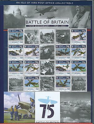 Isle Of Man 2015 Battle Of Britain Sheetlet In Pack Unmounted Mint, Mnh.
