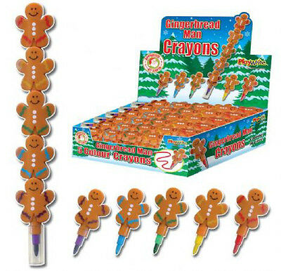 Gingerbread Man Crayons/Colour Pencil Stackers Christmas Stocking Filler Gift