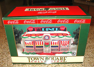 1993 Coca Cola Town Square Collection TICK TOCK DINER Porcelain Lighted