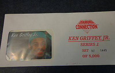 1994 Diamond Connection 1 of 5 Ken Griffey Jr Phone Cards #1449 of 5000 New Open