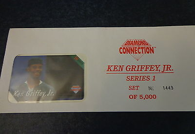 1994 Diamond Connection 1 of 5 Ken Griffey Jr Phone Cards Sealed #1449 of 5000 a