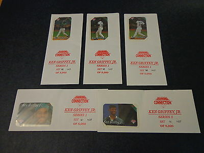 1994 Diamond Connection SET of 5 Ken Griffey Jr Phone Cards Sealed #1437 of 5000