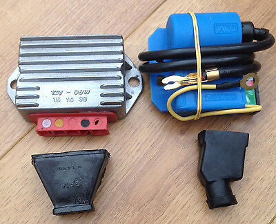 "Lambretta / Vespa Cdi & Regulator Plus ""2"" Covers. 12 Volt . 96 Watt. 3 Pin."