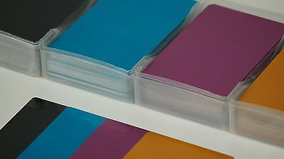 100 Metal Laser Engravable Business Card Blanks Full color 3.4x2.1in THIN