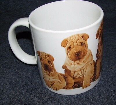 . SharPei Puppies 1985 Snap Shot Coffee Cup