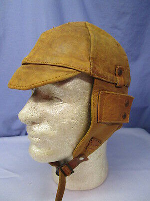 Vintage WW1 Leather US Air Service Pilots Flight Helmet ~ GREAT HELMET!!!