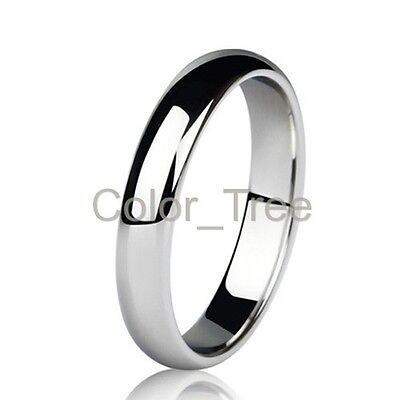 3mm Dome Classic Polished Tungsten Promise Ring Wedding Band Mens Lady SIZE 5-10