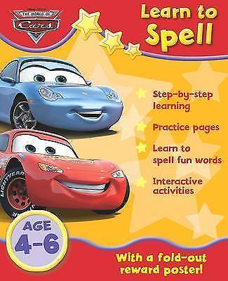 Disney Cars: Learn The Alphabet Age 4-6 Home Learning Activity Book & Wall Chart