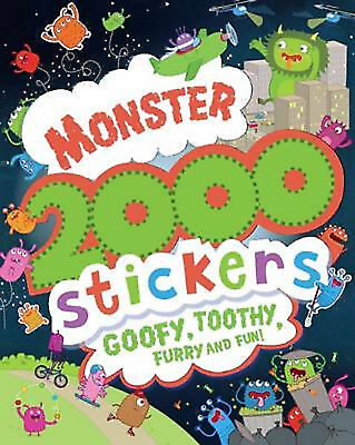 Monster 2000 Stickers Activity Book (Paperback) NEW