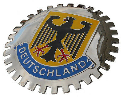 Deutschland German Germany flag car emblem badge