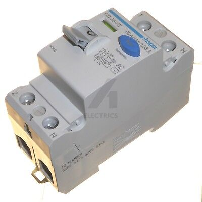 80 Amp 30mA RCCB RCD Double Pole Trip Switch Circuit Breaker 80A Hager CD280W