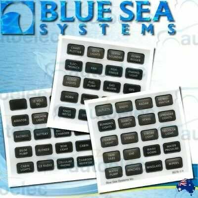 Blue Sea 8214 60 Pce Label Set Suit 5025 5026 5028 5029 5035 Fuse Block Box