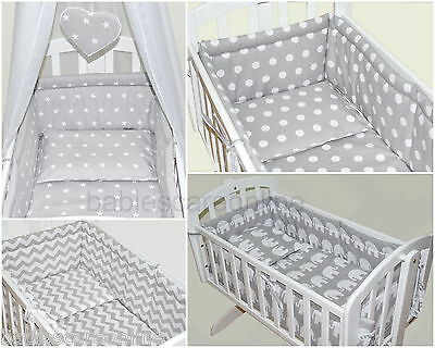6 pcs bedding set/All roud Bumper/sheet/duvet/ to fit baby swinging crib/craddle