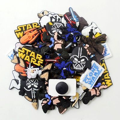 Gifts 50pcs Star Wars Shoe Charms Decoration for Clog&Jibitz Silicone Wristband