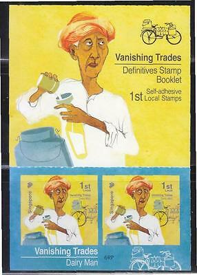 Singapore 2015 Vanishing Trades 1St Local Dairy Man 6Th Reprint (2015G) Booklet