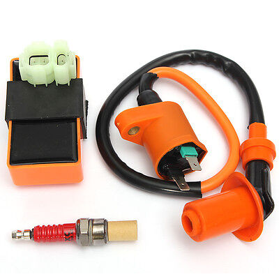 Racing Performance CDI+Ignition Coil+Spark Plug For Gy6 50cc 125cc 150cc Scooter