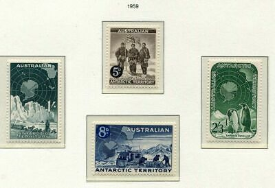 s3410a) AUSTRALIAN ANTARCTIC 1959 MNH** Definitives 4v