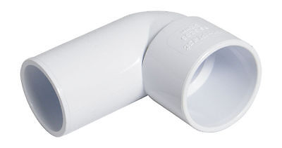 "FLOPLAST 32mm 1.1/4"" WHITE 90º DEGREE CONVERSION BEND ELBOW SOLVENT WASTE WELD"