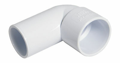 "FLOPLAST 40mm 1.1/2"" WHITE 90º DEGREE CONVERSION BEND ELBOW SOLVENT WASTE WELD"