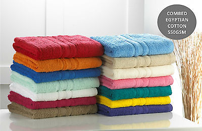 Luxury Egyptian Cotton Towel Combed Cotton Deep Pile Face Hand Bath Sheet 600GSM