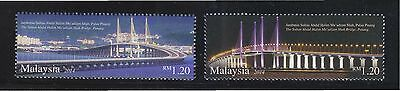Malaysia 2014 Second Penang Bridge Comp. Set Of 2 Stamps In Mint Mnh Unused