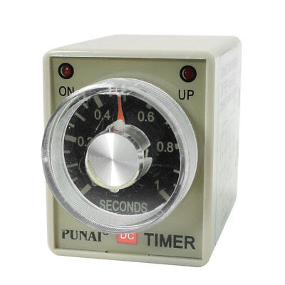 Panel Mounted DPDT 8P 1Sec 0-1S Timer Time Relay 24VDC AH3-2 w LED Indicator