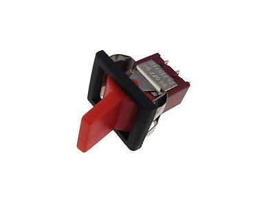 3-Pin Toggle Switch - Red - Panel Mount Type  ON-ON