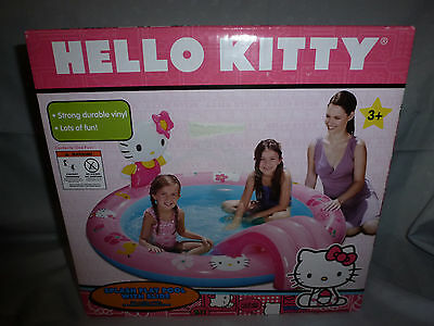 "SANRIO HELLO KITTY SPLASH PLAY SWIMMING POOL WITH SLIDE~77""x65""x25""~NEW IN BOX~"