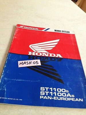 supplément manuel atelier Honda ST1100 A ST 1100 pan european Shop manual éd. 95