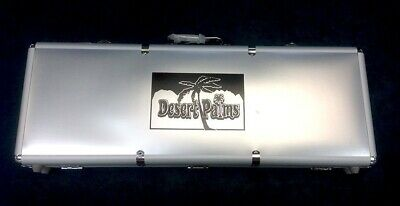 NEW 500 Chips Desert Palms Carrying Case Holds 500 Poker Chips-2 Decks and Dice*