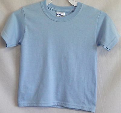 NWOT Gildan Size Toddler 2T Light Blue Short-Sleeve T-Shirt Tee Shirt Top New