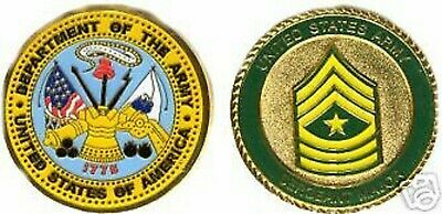 Us Army Sergeant Major Color Gold Challenge Coin