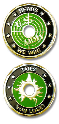 Army Heads We Win Tails You Lose Target Challenge Coin
