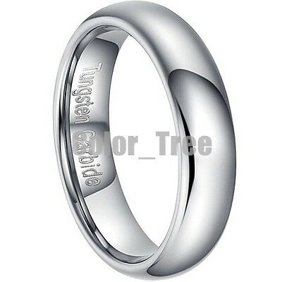 2PCS Tungsten Carbide Silver Matching Couple's Promise Wedding Band Ring Set