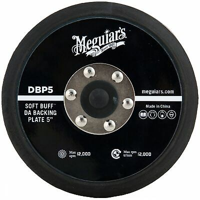 "Meguiar's 5"" Inch Backing Plate For DA Car Polisher/Polishing/Valeting"