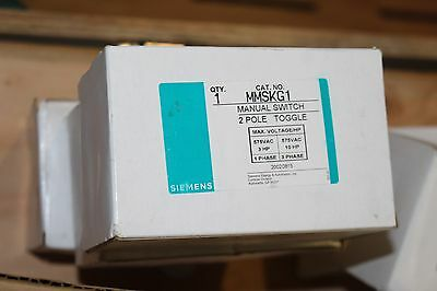 New Siemens Mmskg1 Manual Starter Switch 2 Pole