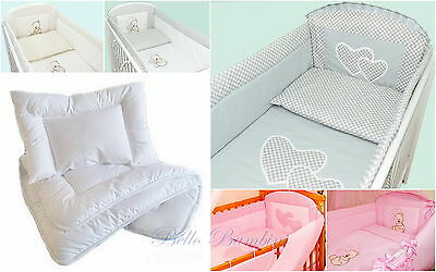 5 p Bedding Set ALL ROUND BUMPER 4 Cot(120x60) or Cot Bed(140x70cm)100% COTTON