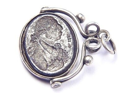 ANTIQUE SILVER & STEEL GEORGIAN GEORGE III ROYAL CREST SEAL FOB CHARM c1770