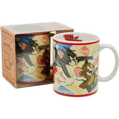 Tom and Jerry Mug - Vintage Classic Cat And Mouse Kids Retro Gift Kitchen Office