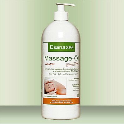 Esana SPA  Massageöl Neutral  1 Liter in DAB/Ph. Eur. Qualität inkl. Dosierpumpe