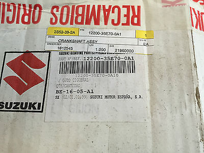 Nos . Suzuki Ay50 K1/K2 Crankshaft Assy, Part No - 12200-35E70-0A1