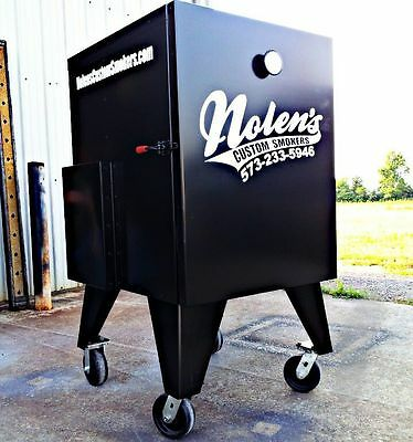 Insulated Bbq Vertical Reverse Flow Competition Smoker Non