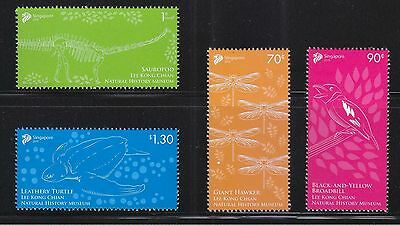 Singapore 2015 Lee Kong Chian Natural History Museum Comp. Set Of 4 Stamps Mnh