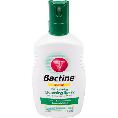 Bayer Bactine Pain Relieving Cleansing Spray Soothing Infection Protection 5 oz