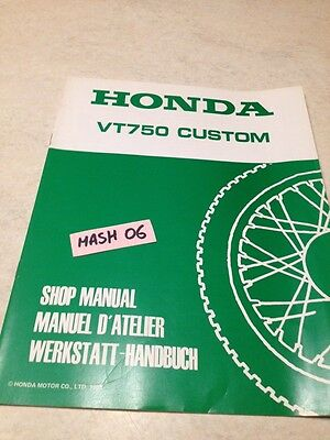 supplément manuel atelier Honda VT750 Custom Shadow VT750C VT 750 Shop manual