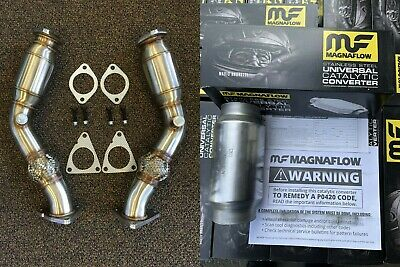 1320 Performance 370Z G37 VQ37HR VQ35HR test pipes  with anti-reversion chamber