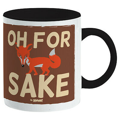 FUNNY SAYING FOR FOX SAKE MUG - Cup Coffee Tea Ideal Gift For Him Or Her Kitchen