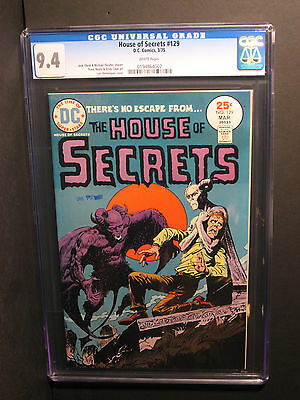 House of Secrets   #129   CGC 9.4   (3/75)   WHITE Pages!   NO RESERVE