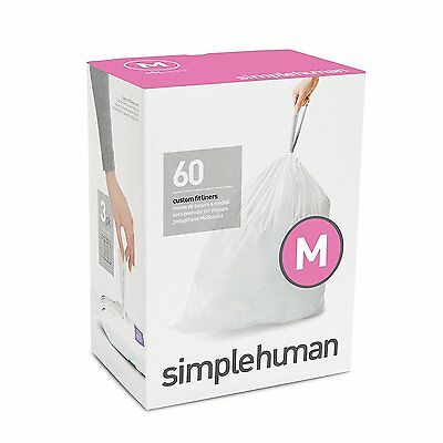 Simplehuman code/size M (45 litres) bin bag liner, CW0261 (Box of 60)