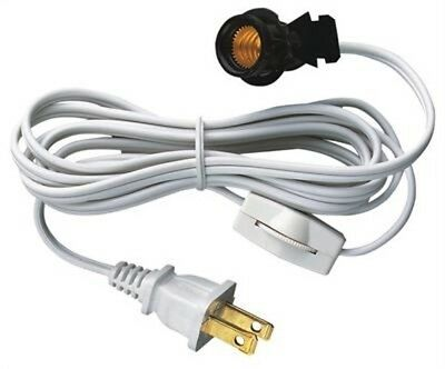 Westinghouse 7010800 - 6' Cord Set w/ Snap-In Pigtail E12 Socket and Cord Switch